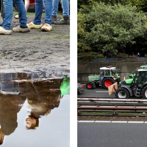 Nederland, den Haag, 01 oktober 2019 Vandaag stonden duizenden boeren met hun tractors op het Malieveld om te protesteren tegen hoe de politiek tegen de boer aan kijkt. De boeren vinden dat zij de schuld krijgen van het stikstof probleem. Ze hebben minister Carola schouten duidelijk gemaakt dat ze het zat zijn dat ze worden beschuldigd van dierenmishandeling en milieuvervuilers. De minister heeft hen aangehoord en ook toegesproken net als enkele kamerleden. De ochtend en avondspits heeft zware hinder ondervonden van de boeren voertuigen die langzaam op de snelweg reden. Foto: Stijn Rademaker/HH